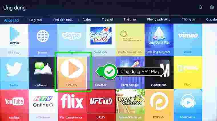 Lỗi Smart tivi không xem được FPT Play 1